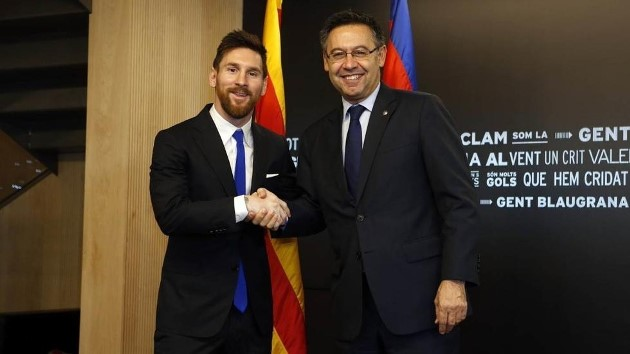 The details of Messi's last renewal in 2017 - Bóng Đá