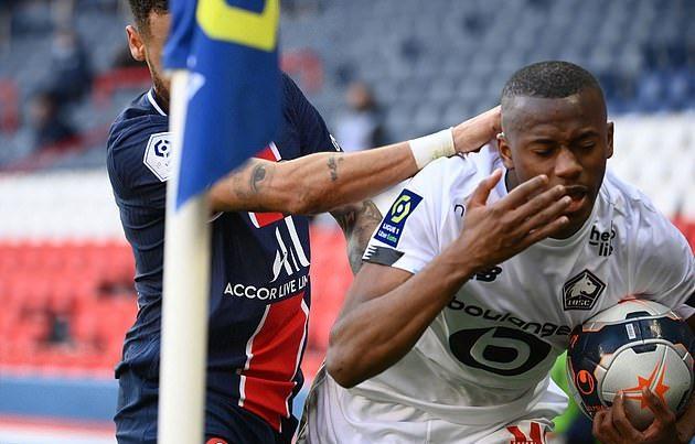 Neymar nhận thẻ đỏ, PSG thua Lillle, mất luôn ngôi đầu - Bóng Đá