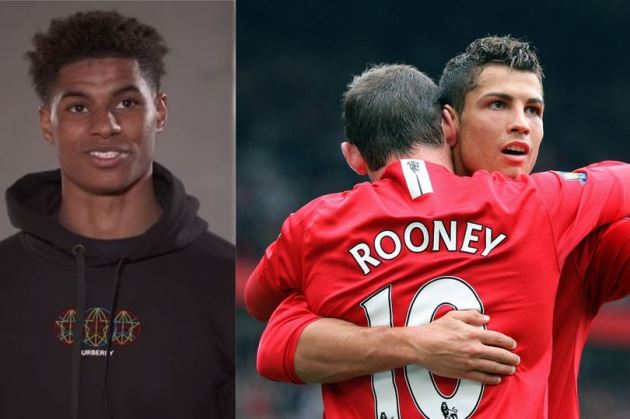 Marcus Rashford names his two favourite players in dream Manchester United six-a-side team - Bóng Đá