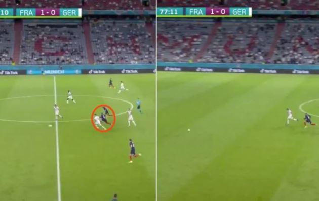 Kylian Mbappe the world's fastest footballer? Star's rapid run during France 1-0 Germany - Bóng Đá