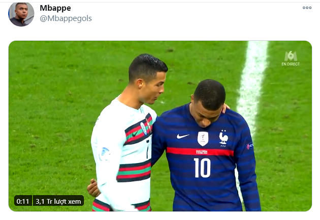 Everyone is talking about these 12 seconds between Ronaldo & Mbappé - Bóng Đá