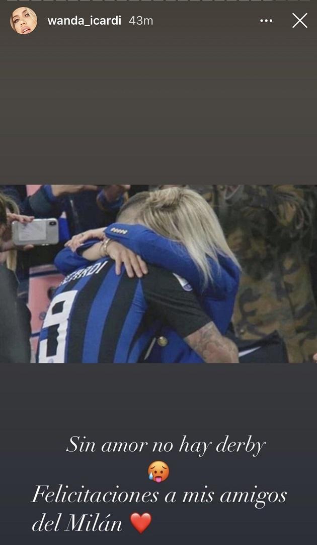 Wanda Nara congratulates her 'friends at Milan' - Bóng Đá