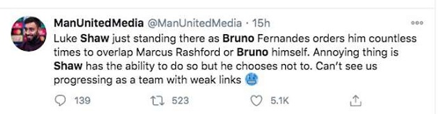 Manchester United news: Fans blast Luke Shaw for ignoring Bruno Fernandes vs Chelsea - Bóng Đá
