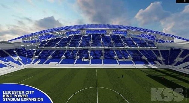 Leicester City: Leaked images of club's King Power Stadium expansion look stunning - Bóng Đá