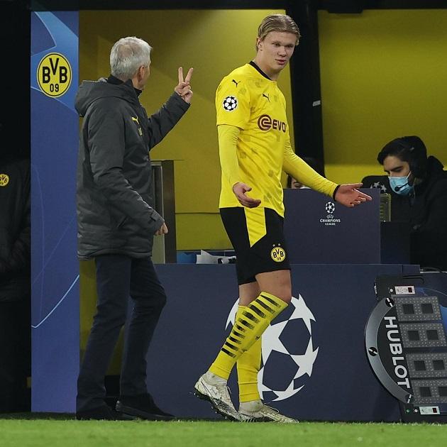 Khoảnh khắc hài hước của HLV Dortmund sau khi Haaland lập cú đúp - Bóng Đá