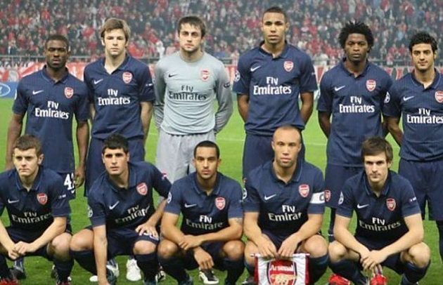 Arsenal fielded the second youngest XI in Champions League history back in 2009 - Bóng Đá