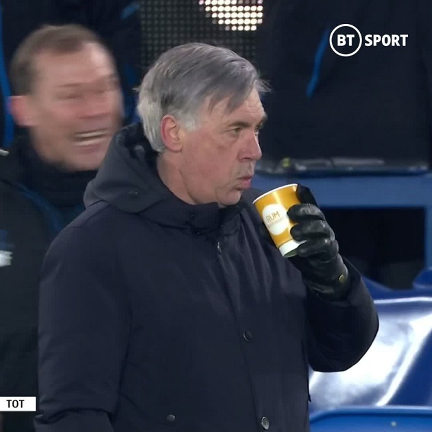 Everton 5-4 Spurs: Carlo Ancelotti's brilliant reaction to Everton's winner in crazy cup tie - Bóng Đá