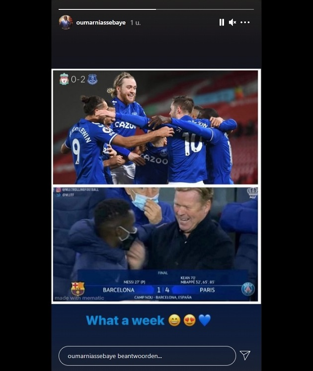 Ronald Koeman is laughed at by a former pupil after Liverpool - Everton - Bóng Đá