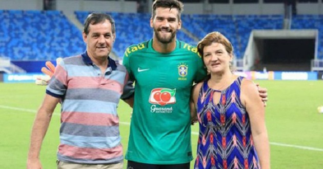 Father of Liverpool goalkeeper Alisson drowns in Brazil - Bóng Đá