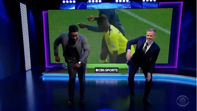 Jamie Carragher had Micah Richards doing cartwheels in CBS Sports studio - Bóng Đá