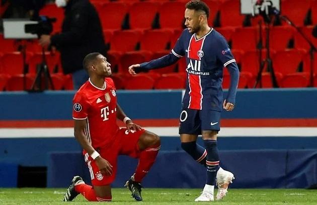 ROLES REVERSED Neymar consoles David Alaba  - Bóng Đá