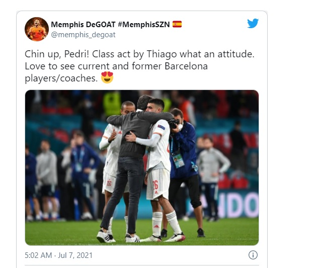 What Liverpool star Thiago Alcantara did on the pitch after Spain Euro 2020 penalties exit - Bóng Đá