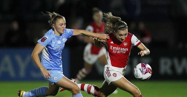 Arsenal Women defeat Man City 5-0 to go top of the Women's Super League  - Bóng Đá