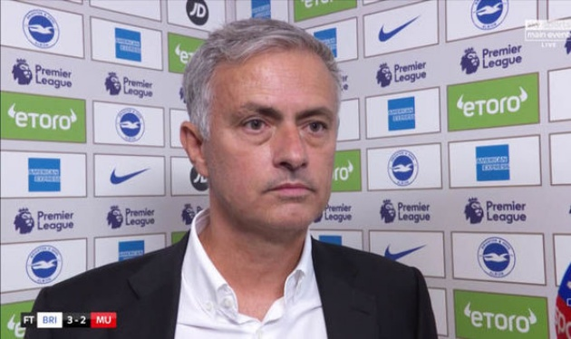 HLV Mourinho nói gì sau cú sốc trước Brighton? - Bóng Đá