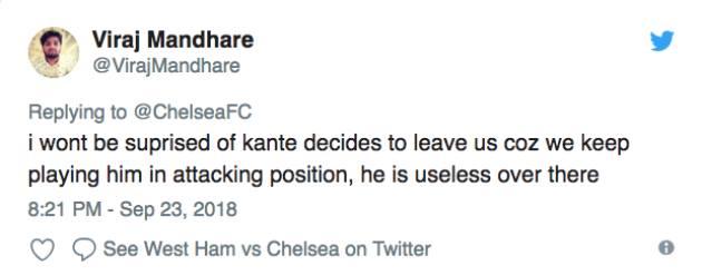 Fan Chelsea chất vấn Sarri về vai trò của Kante - Bóng Đá