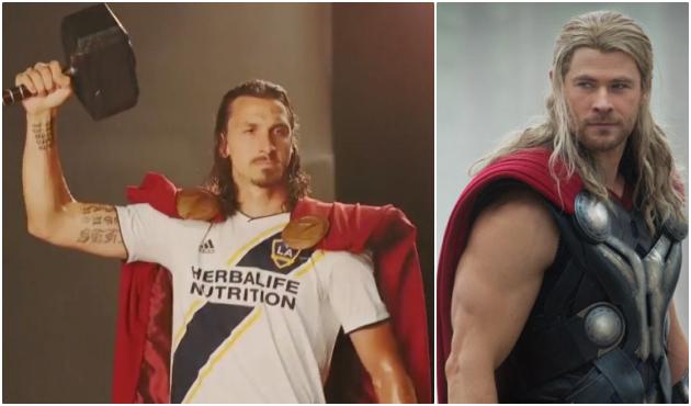LA Galaxy tôn vinh Ibrahimovic bằng tạo hình 'thần Thor' - Bóng Đá