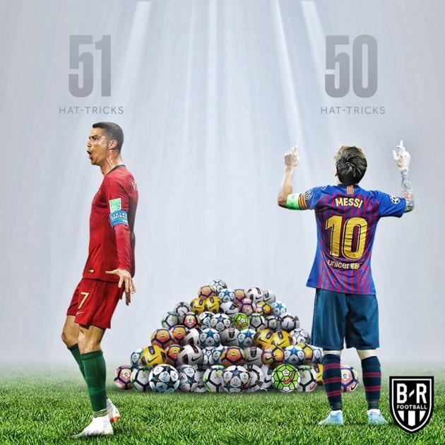 Lập hattrick và tạo kỷ lục, nhưng Messi vẫn thua Ronaldo - Bóng Đá