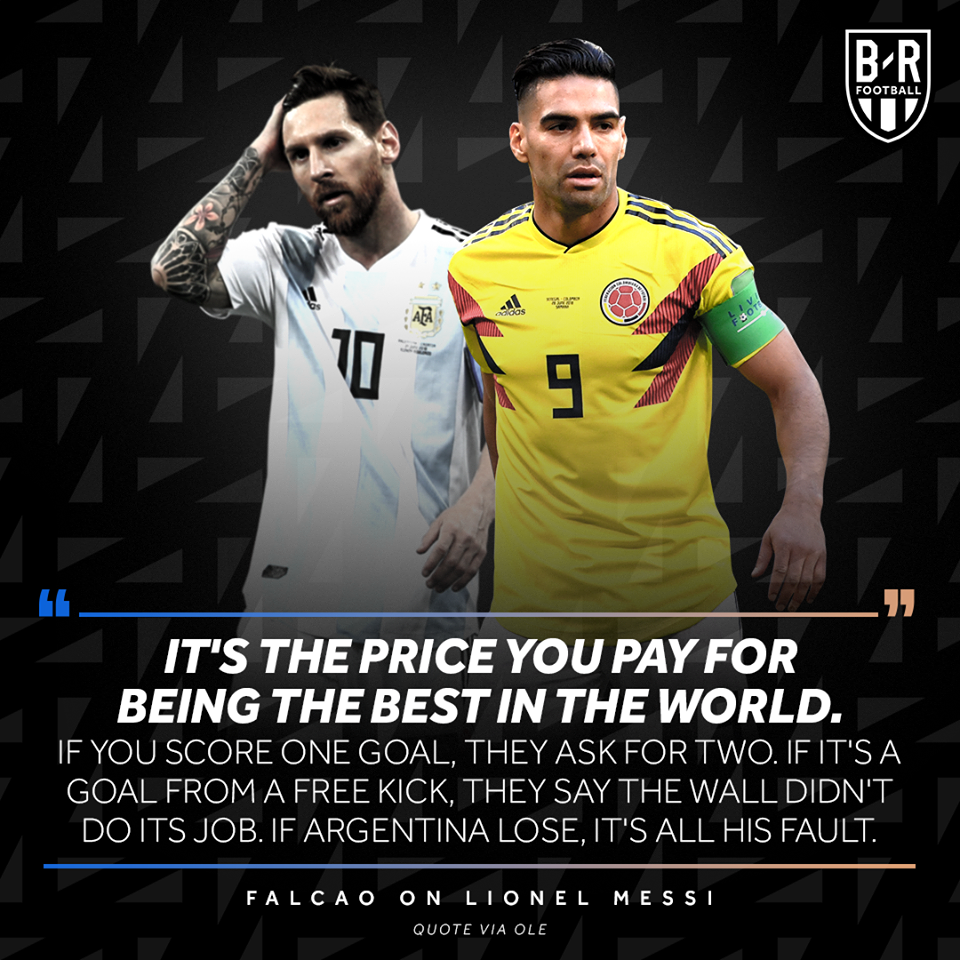 Radamel Falcao on Lionel Messi (Copa America 2019) - Bóng Đá