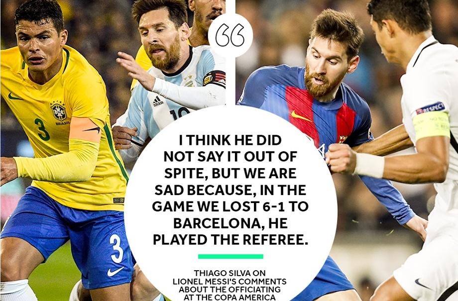 SỐC! Thủ quân Brazil nói thẳng Messi thâu tóm trọng tài - Bóng Đá