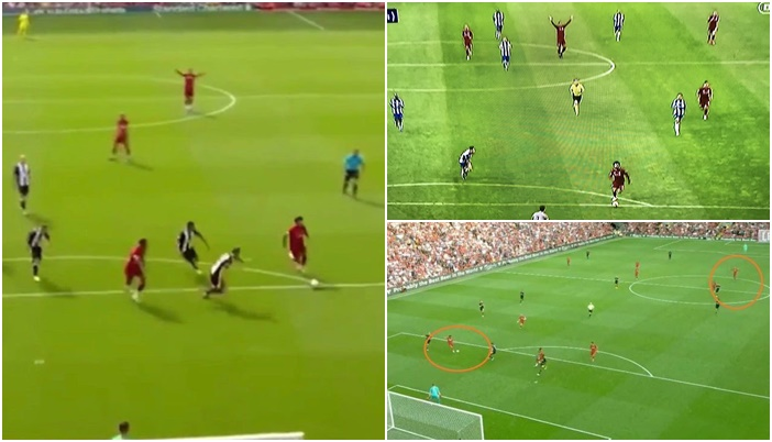 Van Dijk and celebrating Salah's goals before they actually go in - Bóng Đá