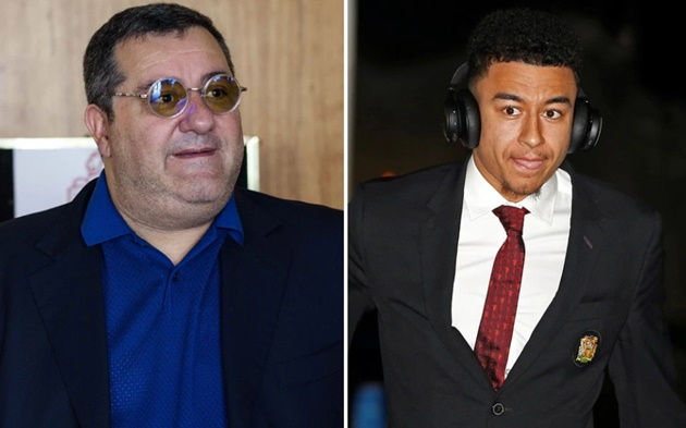 Jesse Lingard risks wrath of Man Utd by teaming up with Paul Pogba's agent Mino Raiola amid transfer reports - Bóng Đá