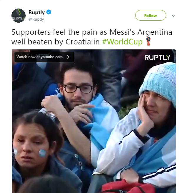 Mạng xã hội 'điên loạn' khi Argentina đứng trước cửa tử - Bóng Đá