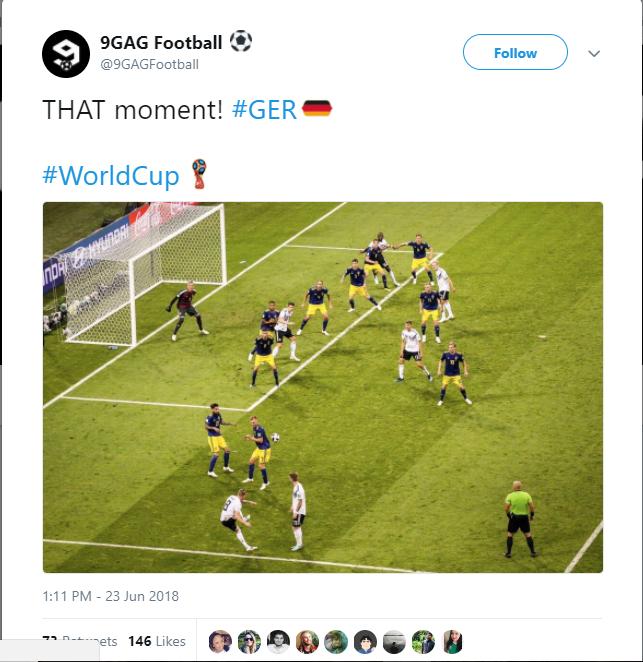 Mạng xã hội bùng nổ sau chiến thắng nghẹt thở của Đức trước Thụy Điển - Bóng Đá