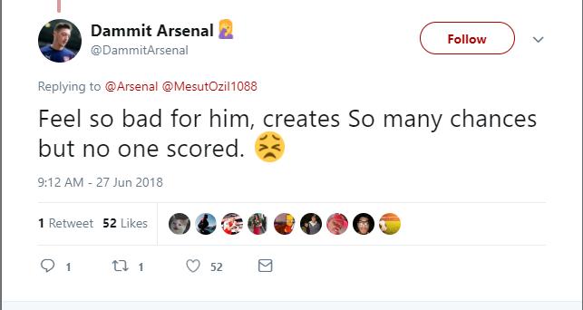 Tuyển Đức bị loại, fan Arsenal vỗ về Ozil - Bóng Đá