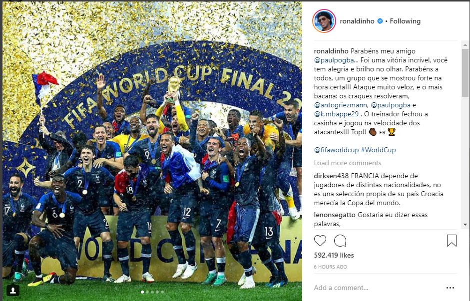 Thế giói bóng đá hào hứng chung vui cùng tuyển Pháp - Bóng Đá