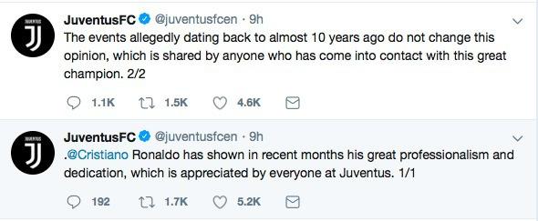 Juventus đăng đàn bên vực Ronaldo - Bóng Đá