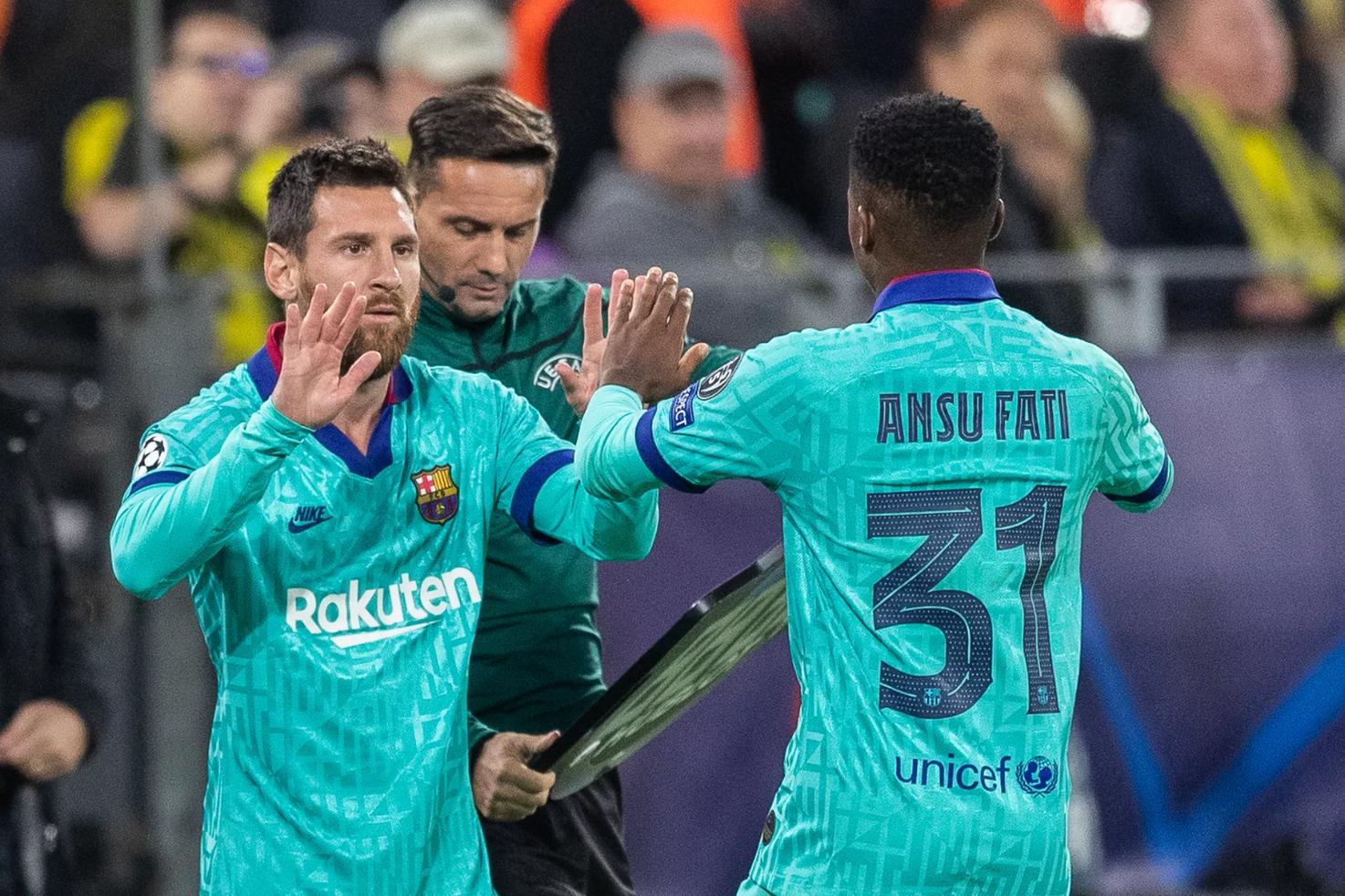 Lionel Messi was impressed by Ansu Fati 'the first day I saw him train' - Bóng Đá