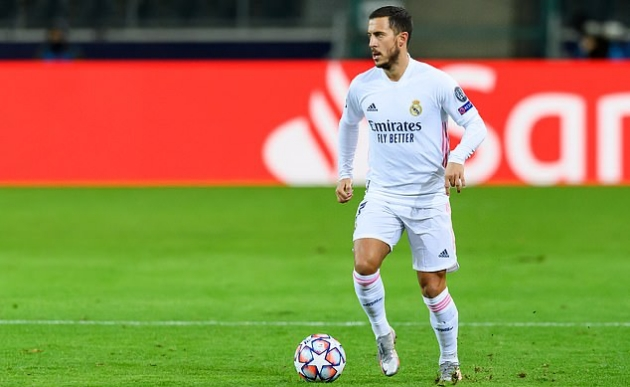 'I'm here to play football': Eden Hazard keen to kick on after returning from injury to help Real Madrid salvage a point against Gladbach - Bóng Đá
