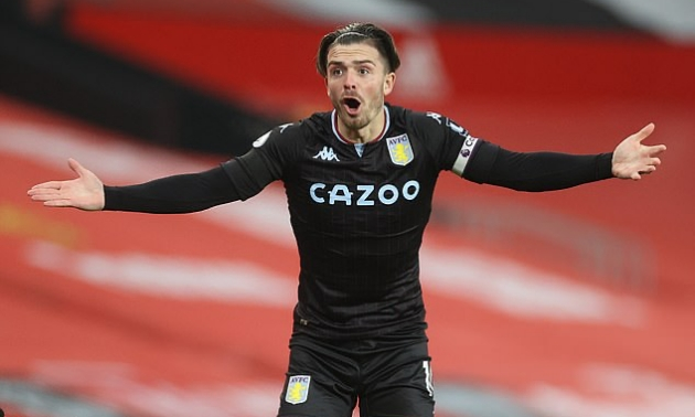 Aston Villa ready to snub January bids for talisman Jack Grealish amid interest from Manchester United and City in £100m-rated midfielder - Bóng Đá