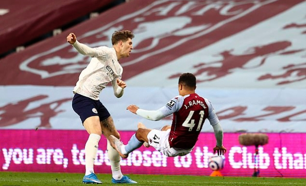 Jamie Redknapp insists that John Stones deserved his red card against Aston Villa following 'nasty' tackle on youngster Jacob Ramsey amid nightmare - Bóng Đá