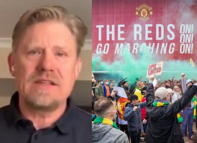 Man Utd hero Peter Schmeichel 'not happy' with fan protest at Old Trafford - Bóng Đá