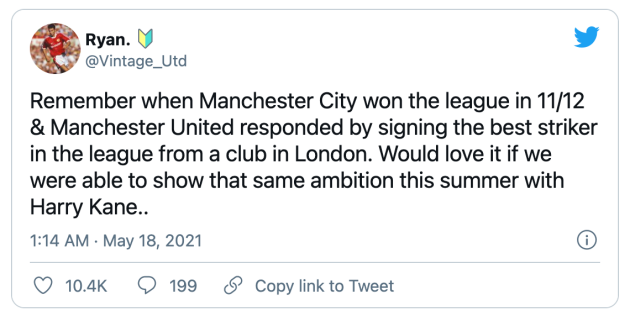 Manchester United fans react to Harry Kane's exit demand - Bóng Đá