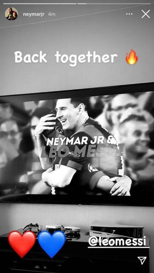 Neymar xác nhận Messi đến PSG - story - Bóng Đá