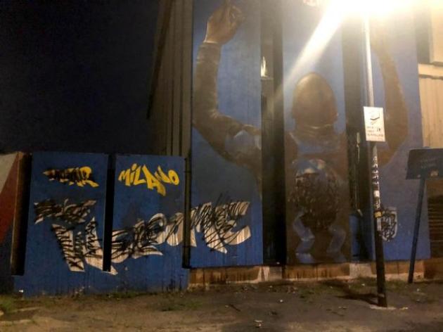 Romelu Lukaku mural in Milan defaced ahead of striker's transfer to Chelsea - Bóng Đá