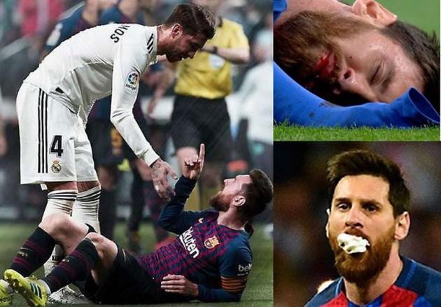Ramos ôm Messi - Bóng Đá