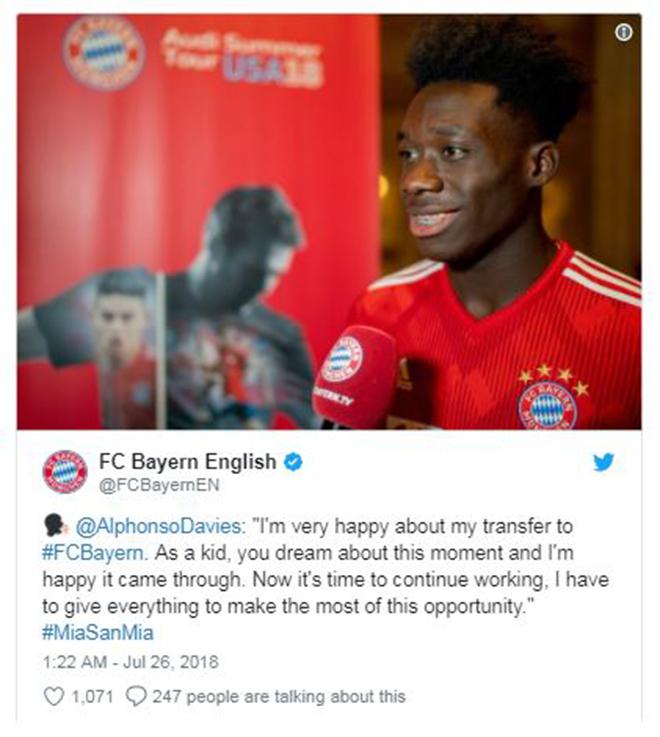 Chiêu mộ sao trẻ Canada, Bayern duyệt chi mức giá kỷ lục tại MLS - Bóng Đá