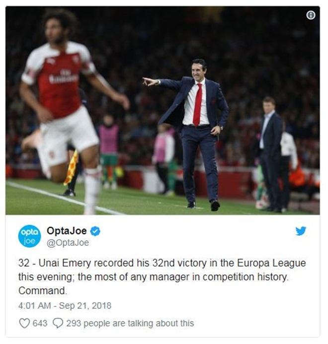 Arsenal giành chiến thắng, Emery lập nên kỷ lục không tưởng - Bóng Đá