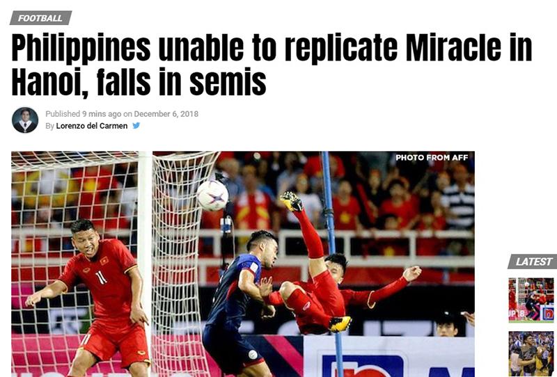 Thua trận, báo Philippines đặc biệt khâm phục một cầu thủ Việt Nam - Bóng Đá