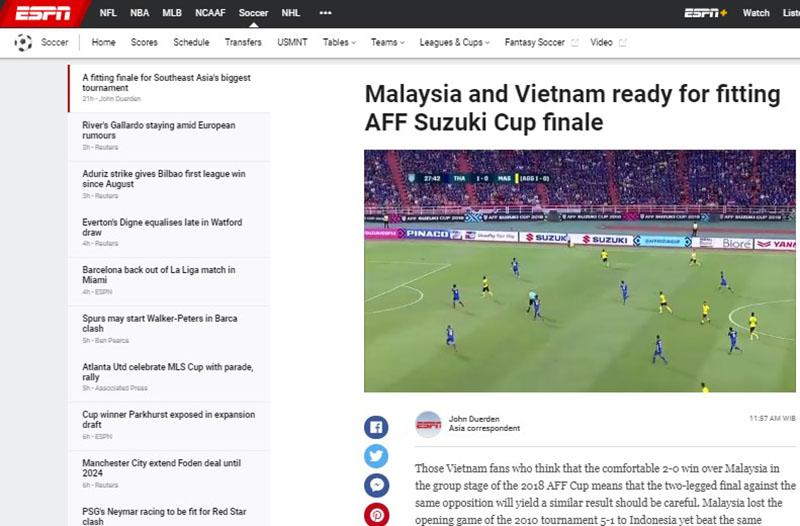 Đấu Malaysia, truyền thông Mỹ cảnh báo tuyển Việt Nam một điều - Bóng Đá