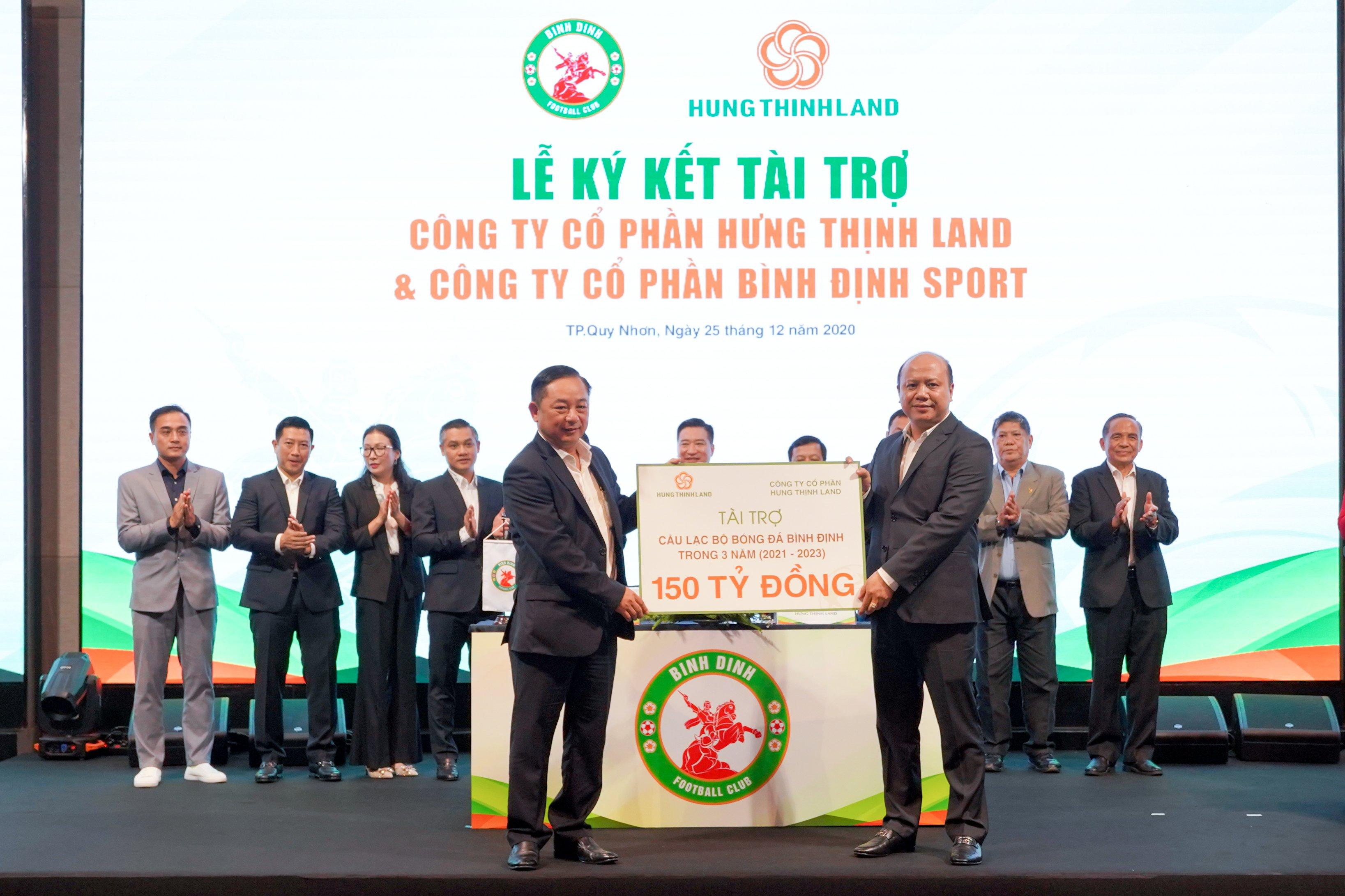 Topenland và Hưng Thịnh Land tài trợ 300 tỷ cho CLB bóng đá Topenland Bình Định trong 3 mùa giải V.League 2021 - 2023 - Bóng Đá