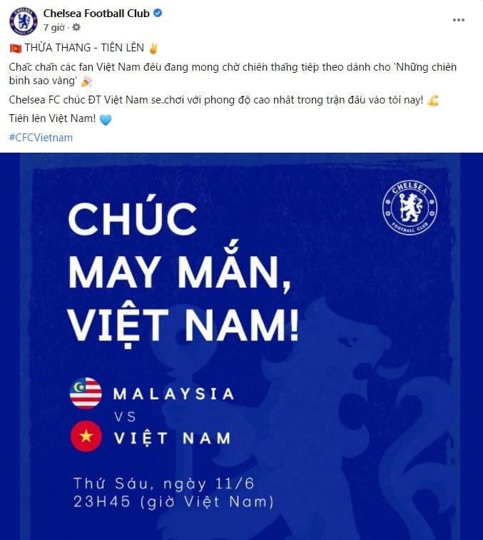 Việt Nam đấu Malaysia, Chelsea có lời nhắn gửi - Bóng Đá