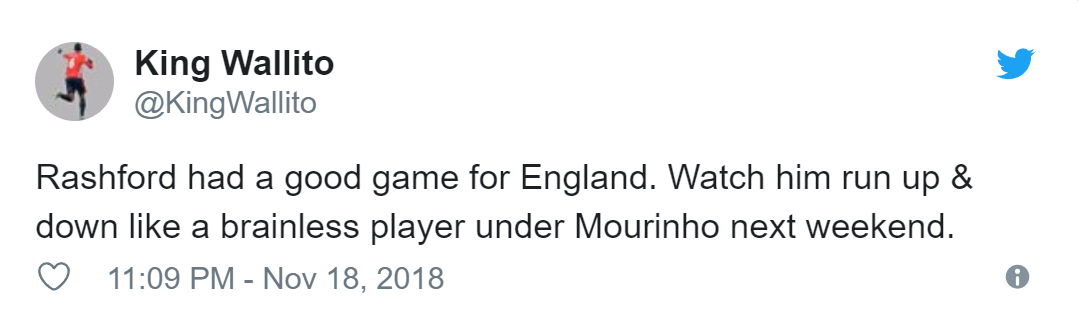 Manchester United fans have worrying theory about Jose Mourinho and Marcus Rashford - Bóng Đá