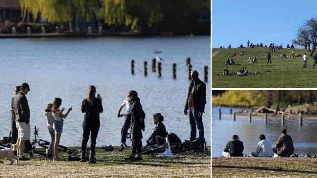 Thousands ignore coronavirus lockdown to enjoy sunny weather as UK death toll passes 4,000 - Bóng Đá