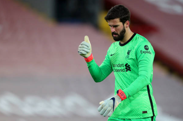 Alisson equals personal save record this season in Man United draw - Bóng Đá