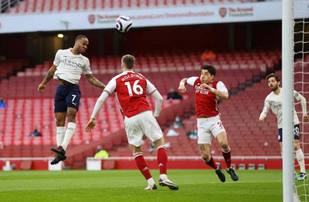 TRỰC TIẾP Arsenal 0 - 1 Man City: Sterling đánh đầu mở tỷ số - Bóng Đá