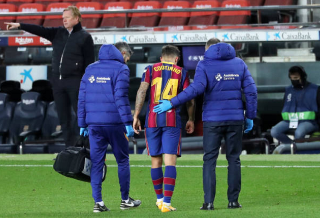 Coutinho suffers injury setback and 3 other latest big stories at Barca you might've missed - Bóng Đá